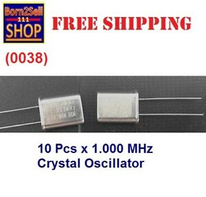 10pcs 1 000mhz 1mhz Quartz Crystal Oscillator Hc 49u Low Profile Low Frequency