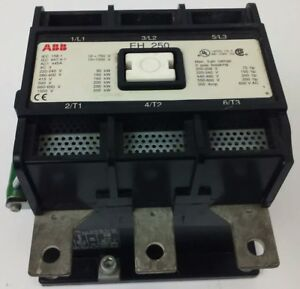 Abb Eh250 Contactor 600v 3ph 300a 75 250h p 3p Breaking 250kw Eh New