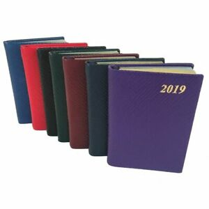 Charing Cross 2019 Diary D732l 3x2 Crossgrain Leather Pocket Calendar Planner