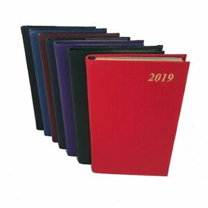 Charing Cross 2019 Diary D753l 5x3 Crossgrain Leather Calendar Planner