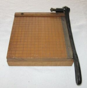 Antique Ingento No 2 Paper Cutter Ideal School Supply Company 8 Wide