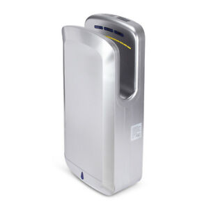 Commercial Electric Hands Free Automatic Hot cold Hand Dryer 1650 Watt Silver