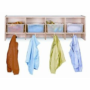 Jonti craft Wall Locker With 4 Sections With Clear Tubs