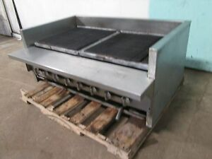 imperial Heavy Duty Commercial Natural Gas 8 Burners 48 w Radiant Charbroiler