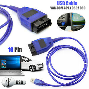 Kkl409 1 Vag Com 409 Obd2 Obd Ii Car Diagnostic Scanner Usb Cable Audi Vw Seat