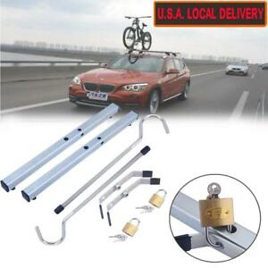Universal Car Roof Rack Cross Bars System With 2 Pcs Anti Theft Lock Clamps Us