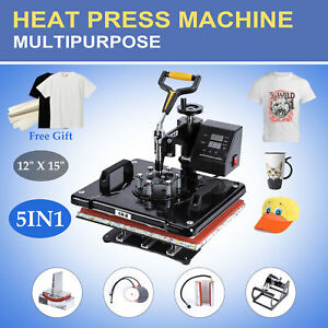 T Shirt Heat Press Machine For Mug Hat Plate Cap Mouse Pad 1250w
