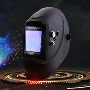 Black Solar Powered Auto darkening Welding Helmet Grinding Tig Welder Mask New
