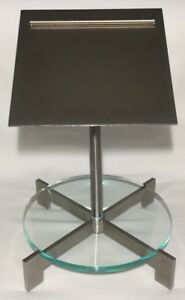 Vtg Jcpenny Store Display Double Shoe Stand Chrome Metal And Plexiglass Fixture