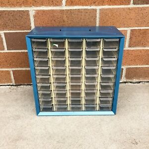 Vintage Metal Akro Mils 45 Drawer Parts Cabinet Small Parts Hardware Storage