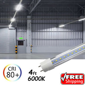25 Pack Led G13 4ft 4 Foot T8 Tube Light Bulbs 18w 6500k Clear Lens Fluorescent