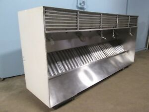 duo aire Hd Commercial nsf 120 w Ss Kitchen Exhaust Hood W return Air Vents