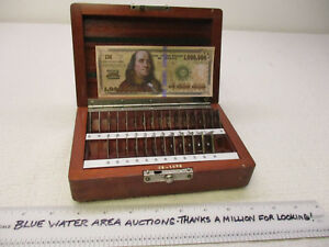28 Pc Pratt Whitney Square Gage Gauge Block Set Thin Sizes 010 090 Ec