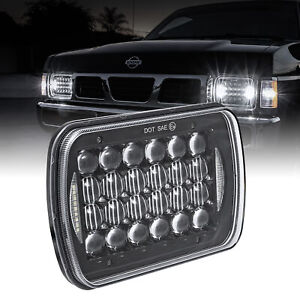 7x6 5x7 Square 3 000 Lumen Led Sealed Beam Headlight Drl Black Head Lamp