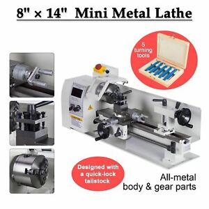 8 X 14 Mini Metal Lathe Machine Variable Speed Dc Motor Driven Edy