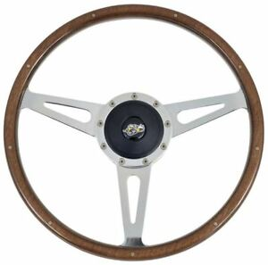 1965 1969 Dodge Coronet Custom Wood 15 Steering Wheel Kit With Superbee Logo