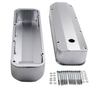 For Bbf Bb V8 Ford Fabricated Aluminum Valve Cover Big Block 429 460 Long Bolts