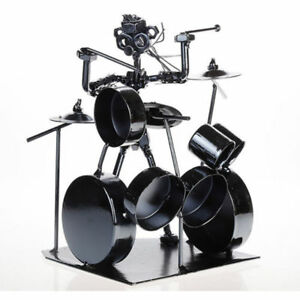 Home And Office Decor Unique Gift Nuts And Bolts Figurines Ornament Drummer