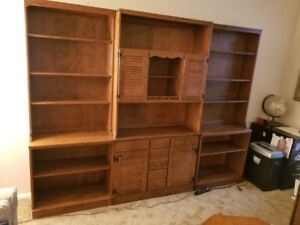 Ethan Allen Wall Unit Bookcase