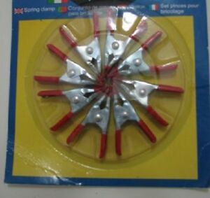 12 New 8 Pc 2 Rubber Grip Spring Clamp Sets Great For Small Jobs Free Ship