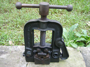 Littlestown Hardware Foundry Co Pa Reversible Pipe Vise Complete W Orig Paint