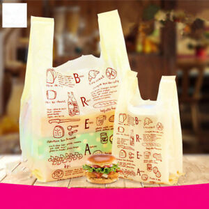 100pcs Plastic Shopping Carrier Bags Merchandise Bags T shirt Toy Accessory Bag