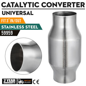 Top 3 Catalytic Converter High Flow Spun Metallic Car Cat 59959 200 Cell Cool