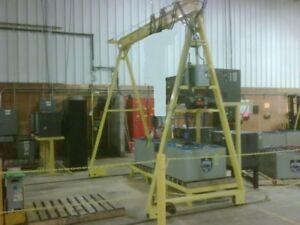 2 Ton Gantry Crane Powered Can Use With Lodestar Or Coffing Hoist