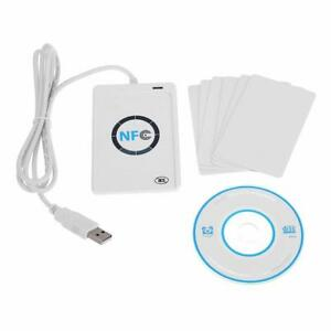 Smart Acr122u Nfc Reader Writer usb 13 56mhz Copier Rfid Contactless 5 Ic Cards