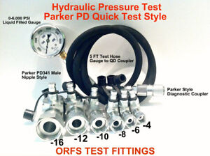 Hydraulic Pressure Orfs Test Kit 6 000 Psi Parker Style Fast Test Coupler Tester