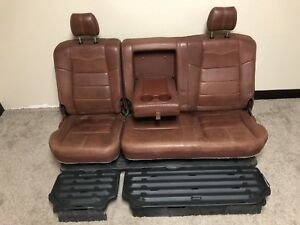 08 09 10 Ford F250 F350 King Ranch Rear Bench Seat 99 10 Crew Cab Leather