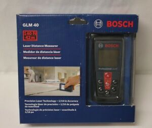 New Bosch Glm 40 Laser Distance Measurer Range Finder Meter 140 40 Meters Nib