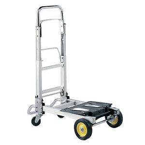 Hand Truck Platform Truck Combo Collapsible Aluminum steel Folding Dolly Cart