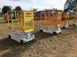 2008 Hy brid 1430 Scissor Lift 14 Deck Hgt 20 Work Hgt Ext Deck 24 Volt Hd