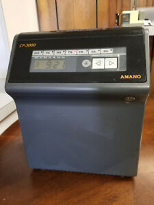 Used Amano Cp 3000 Consecutive Punch Electronic Clock