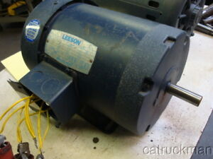 Leeson 3 4 Hp 1140 Rpm 56 Frame Tefc 3 Phase Motor Great For A Drill Press