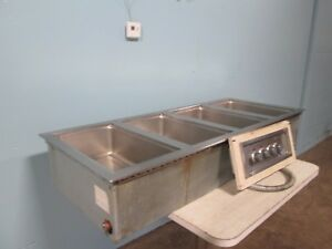 wells Mod 400 Hd Commercial Electric hot steam 4 Pans Drop In Buffet Insert