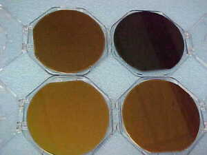 150 Mm 6 Inch Dallas Semiconductor Silicon Wafer With Case Lot Of 4