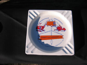 Vintage Construction Advertising Ashtray Metal Very Sharp