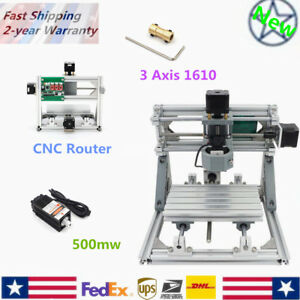 Mini Cnc Router Kit 3 Axis 1610 500mw Usb Laser Pcb Wood Milling Machine Carving