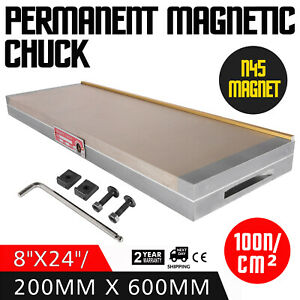 Fine Pole Permanent 8 X 24 Magnetic Chuck Grinding Sealed Chucks Processing