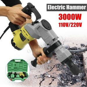3000w Electric Demolition Jack Hammer Drill Concrete Breaker Punch Jackhammer