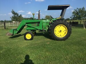 John Deere 3020 Diesel Tractor With Loader