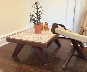 Mid Century Modern Coffee Table 1960 S Mosaic Tile Top Low To Ground Martz Era