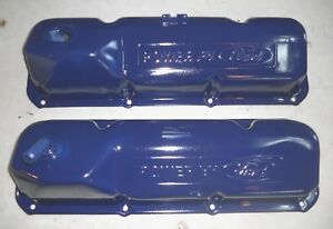 Set Of Oem Ford Mustang Cougar Oem 351c Cleveland Valve Covers