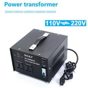 200 500 1000 2000 3000w Step Up down Voltage Converter Power Transformer Us Plug