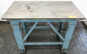 24 X 46 Cast Iron Surface Fixture Layout Plate For Metalworking W Stand