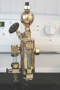 Vintage Michigan Hydrostatic Lubricator Brass Incomplete But Great Display