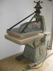 25 Ton Herman schwabe Ds Clicker Die Cutting Press 30 X 40 Table