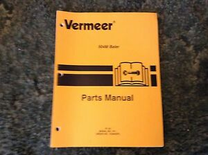 105400zfl A New Parts Manual For A Vermeer 504m Round Baler